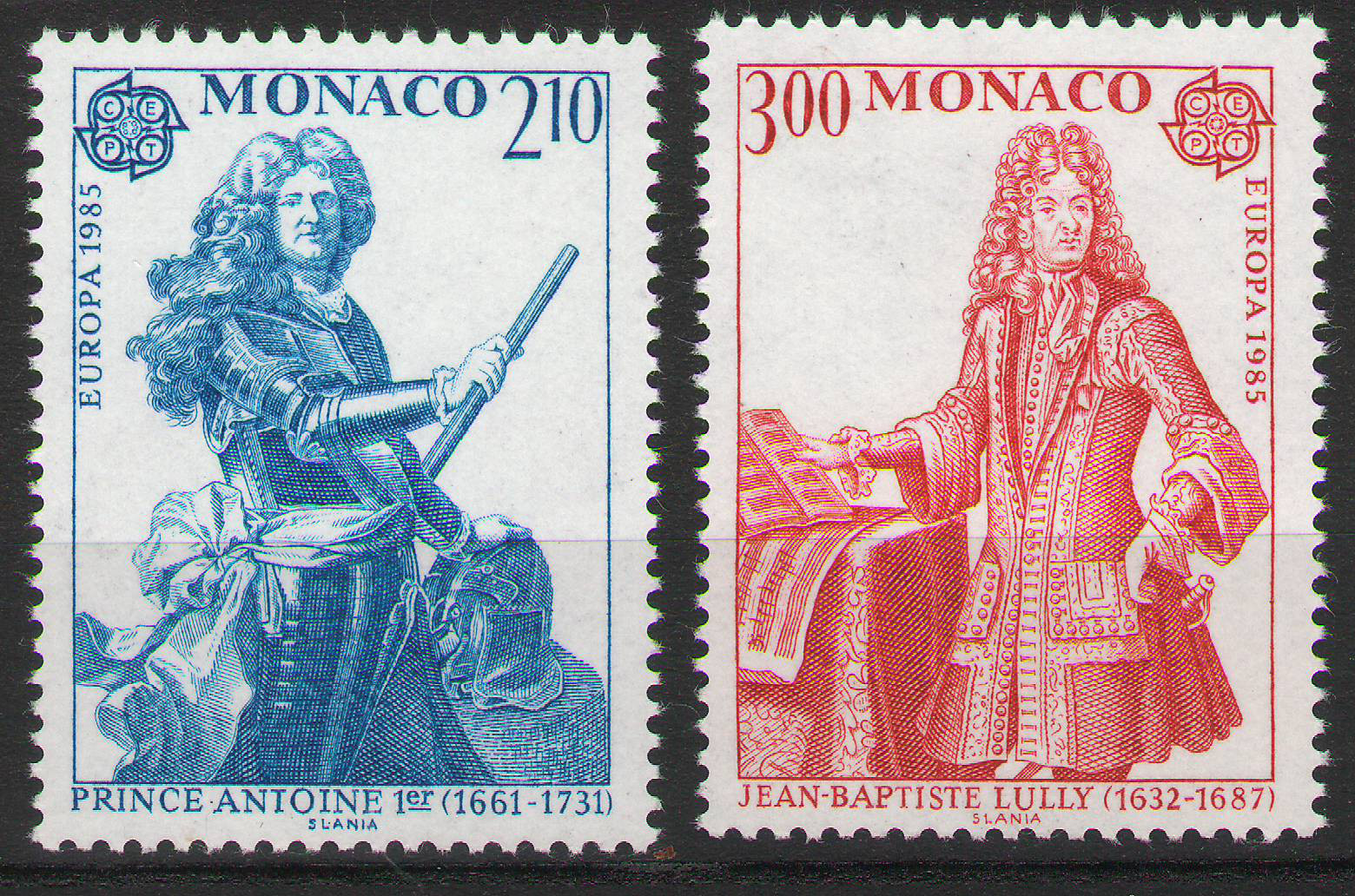 Monaco - 1985 - CEPT Europa set of 2 MNH ** - cv ?3.00