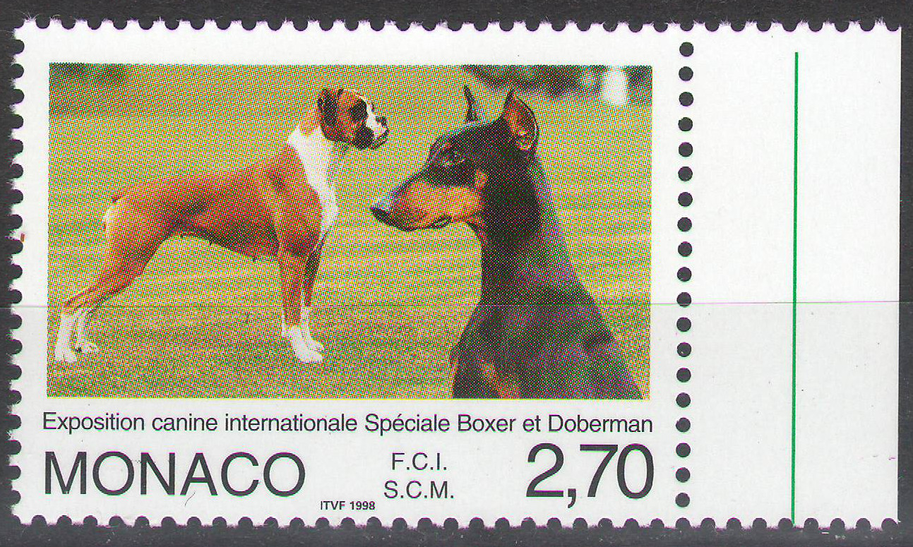 Monaco - 1998 - International Dog Show - margin MNH ** - cv ?0.80