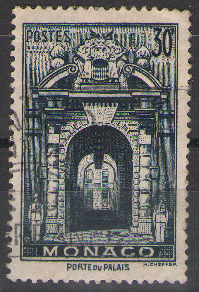 Monaco - 1951 - 30Fr Palace Gate - Used