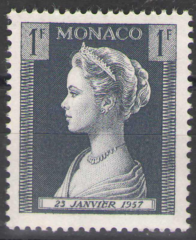 Monaco - 1957 - Grace Kelly 1Fr - MNH