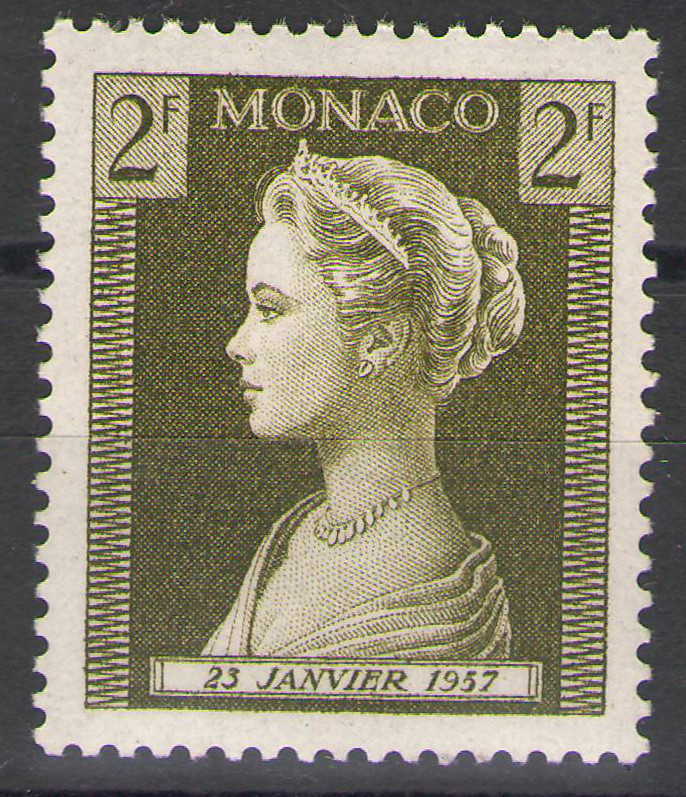 Monaco - 1957 - Grace Kelly 2Fr - MNH
