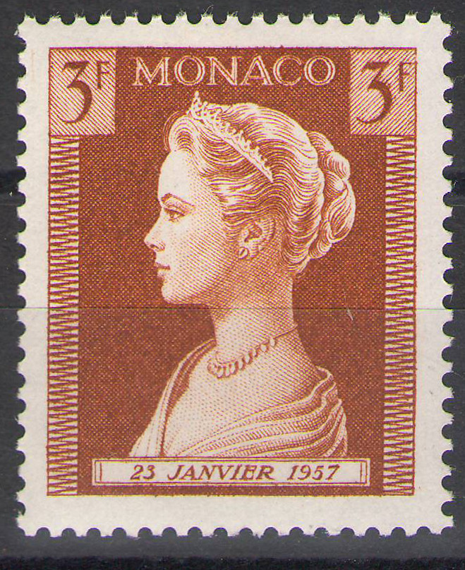 Monaco - 1957 - Grace Kelly 3Fr - MNH